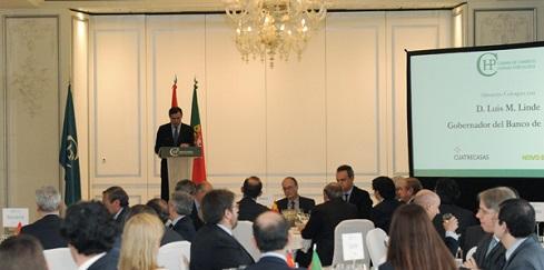 Governador do Banco de Espanha almoça com empresários portugueses e espanhóis na Câmara Hispano-Portuguesa